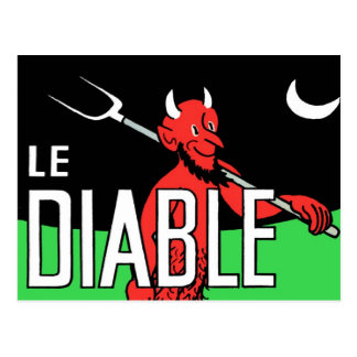 Halloween Retro Vintage Devil Le Diable Postcard