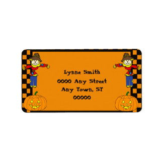 Halloween Return Address Label