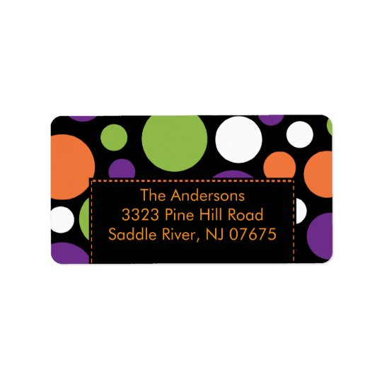 Halloween Return Address Label Fun Dots
