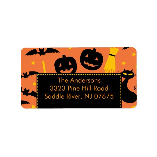 Halloween Return Address Label Fun Pumpkin