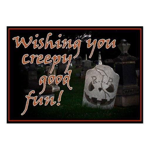 Halloween RIP Cemetery Grave Marker Business Cards