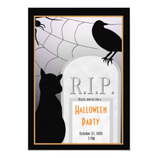 Halloween RIP Tombstone Party Invite