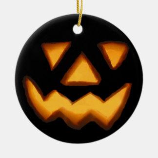 Halloween Round Ceramic Ornament