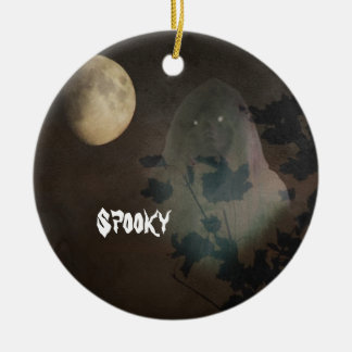 Halloween Round Ceramic Ornament