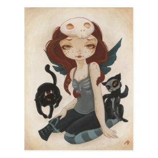 Halloween Samhain goth fairy shirt Tricks and Trea Postcard
