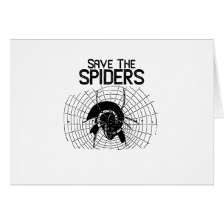 Halloween Save Spiders Web Costume Card