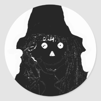 Halloween Scarecrow Black The MUSEUM Zazzle Gifts Round Sticker