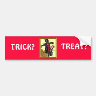 Halloween Scarecrow Bumper Sticker