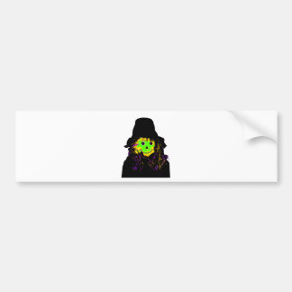 Halloween Scarecrow Green The MUSEUM Zazzle Gifts Bumper Sticker