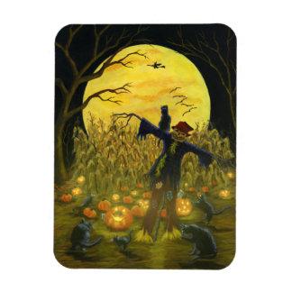 Halloween scarecrow,Jack-O-Lanterns,black cats Magnet