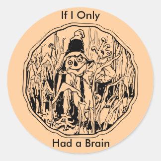Halloween Scarecrow No Brain Sticker