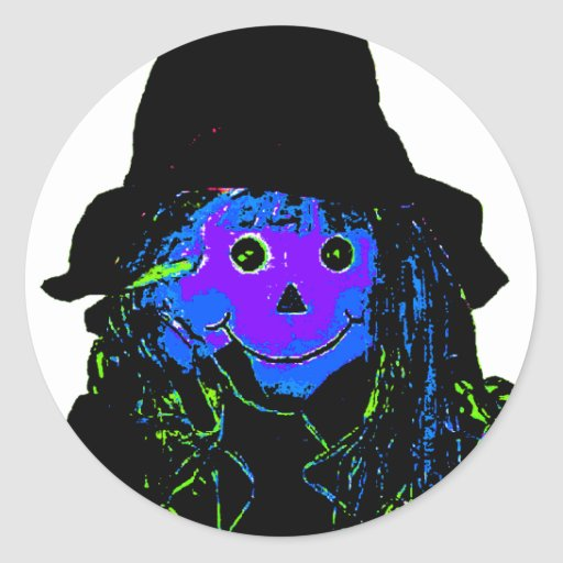 Halloween Scarecrow Purple The MUSEUM Zazzle Gifts Stickers
