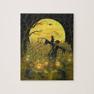 Halloween scarecrow puzzle