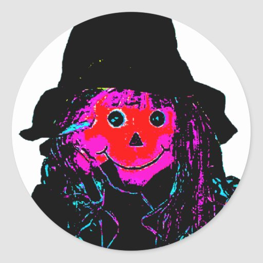 Halloween Scarecrow Red The MUSEUM Zazzle Gifts Stickers