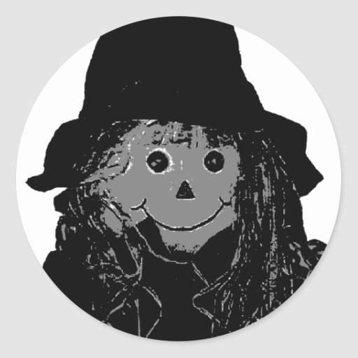 Halloween Scarecrow Silver The MUSEUM Zazzle Gifts Round Stickers