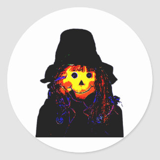 Halloween Scarecrow Yellow The MUSEUM Zazzle Gifts Stickers