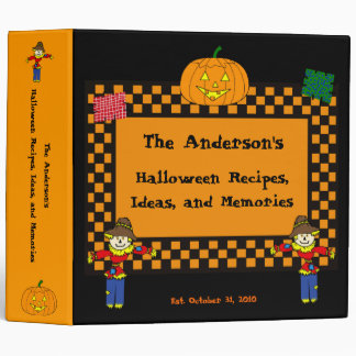 Halloween Scarecrows and Pumpkins Recipe/Ideas/Pho Vinyl Binders