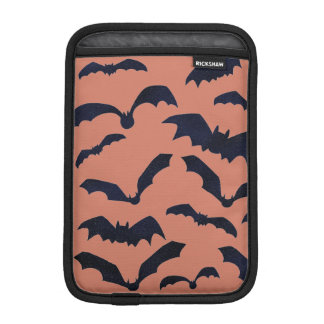 Halloween Scary Black Bats Orange Mini iPad Sleeve