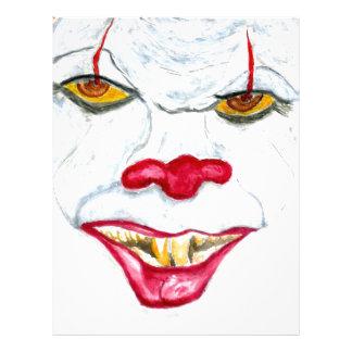 Halloween Scary Clown2 Letterhead