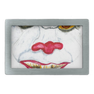 Halloween Scary Clown2 Rectangular Belt Buckles