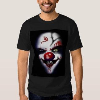 halloween scary clown tshirt