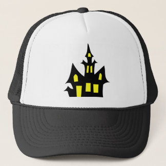 Halloween Scary House Tshirt Trucker Hat