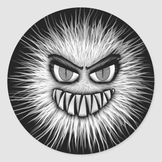 Halloween Scary Monster Classic Round Sticker