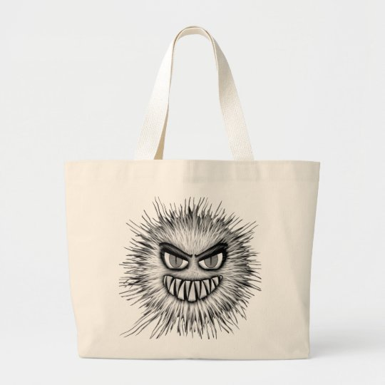 Halloween Scary Monster Large Tote Bag