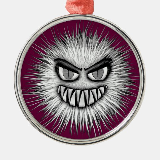 Halloween Scary Monster Metal Ornament