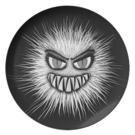 Halloween Scary Monster Plate