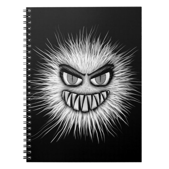 Halloween Scary Monster Spiral Notebook