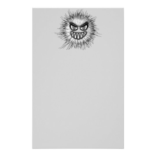 Halloween Scary Monster Stationery