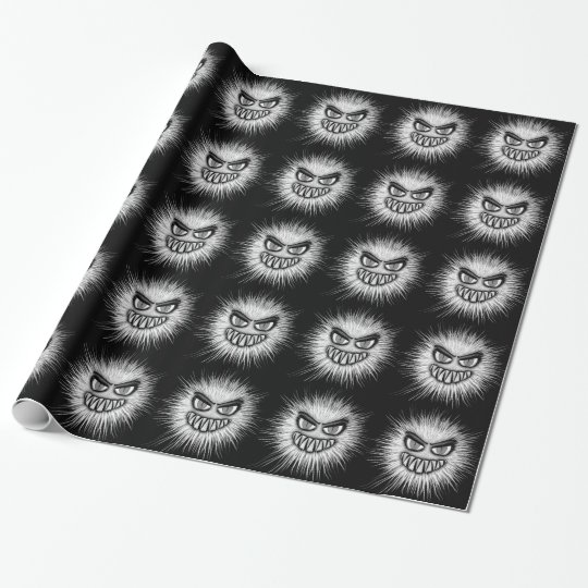 Halloween Scary Monster Wrapping Paper