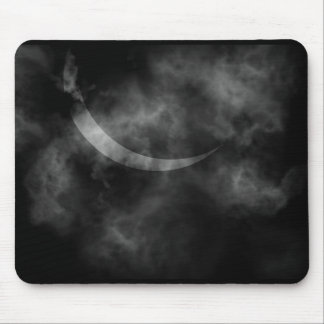 Halloween scary night eclipse mouse pad