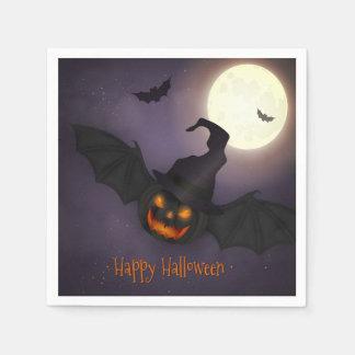 Halloween - Scary Pumpkin Bat - All Opt Disposable Napkin