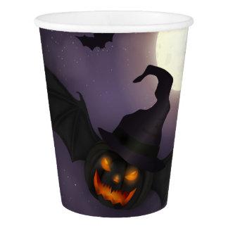 Halloween - Scary Pumpkin Bat Paper Cup