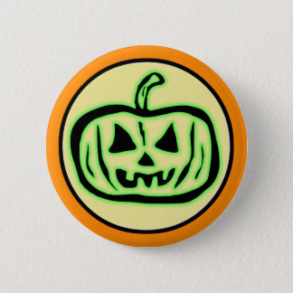 Halloween Scary Pumpkin Jack O Lantern 2 Inch Round Button