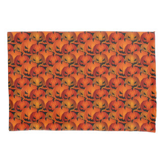 Halloween Scary Pumpkins Pillow Case