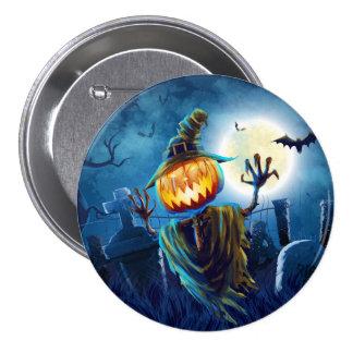 Halloween Scary Scene (5) Pumpkin All Options 3 Inch Round Button