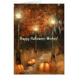 Halloween Scene Card Greeting Card