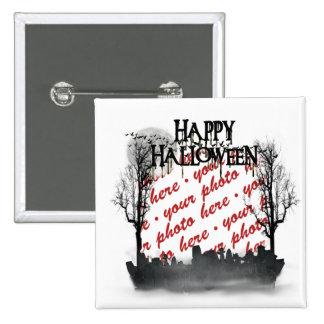 Halloween Scene Photo Frame 2 Inch Square Button