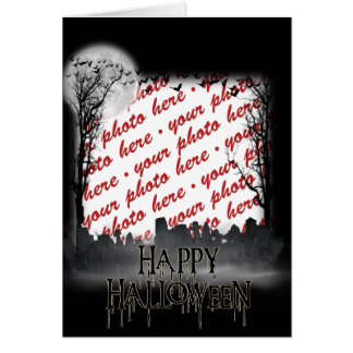 Halloween Scene Photo Frame Card