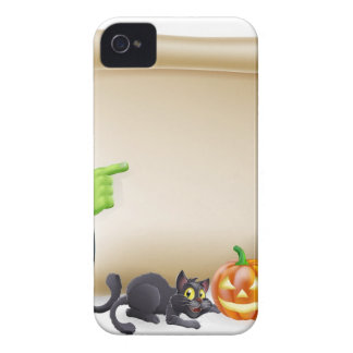 Halloween Scroll with Frankenstein iPhone 4 Case-Mate Cases