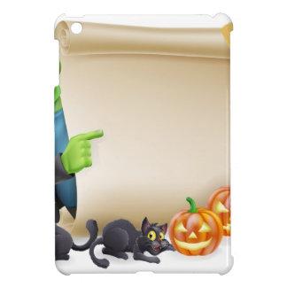 Halloween Scroll with Frankenstein iPad Mini Cover