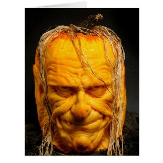 Halloween Sculpted Jack-O'-Lantern Card
