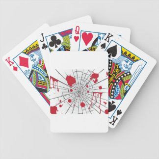 halloween shattered glass bicycle playing cards