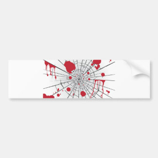 halloween shattered glass bumper sticker