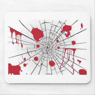 halloween shattered glass mouse pad