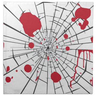 halloween shattered glass napkin