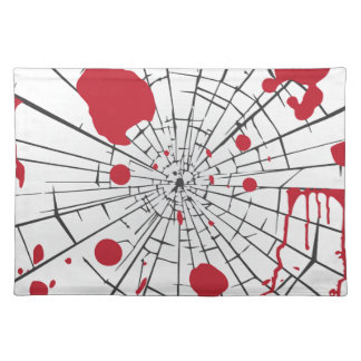 halloween shattered glass placemat